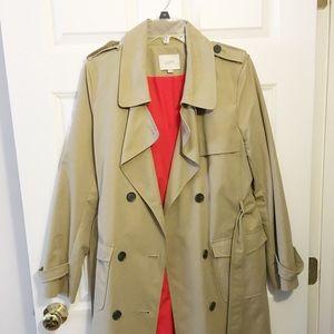 Loft Tan trench coat Size 10